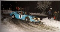 Alpine Renault A 310 n. 5 Rally Monte Carlo 1975